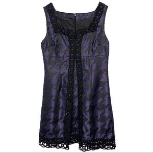 Anna Sui Open Front Crochet Mini Dress Sz 11